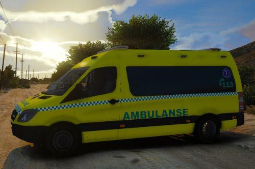 Ambulanse Sprinter Reflective